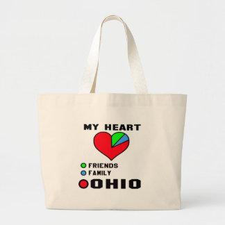 Amo Ohio Bolsa Tela Grande