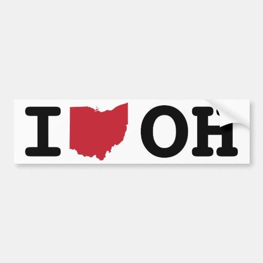 Amo Ohio Etiqueta De Parachoque