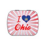 Amo Ohio, Nueva York Jarrones De Dulces