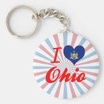 Amo Ohio, Nueva York Llaveros