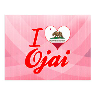 Amo Ojai, California Tarjeta Postal