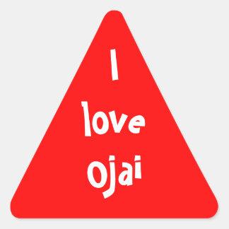 Amo Ojai Pegatina Triangular