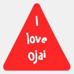 Amo Ojai Pegatina Trianguloada