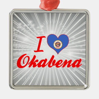 Amo Okabena, Minnesota Adorno Cuadrado Plateado