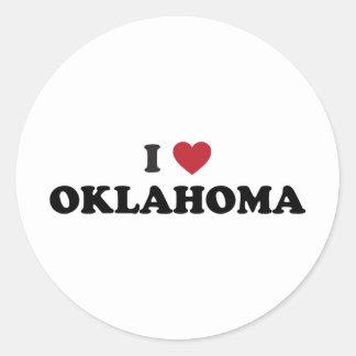 Amo Oklahoma Pegatina Redonda