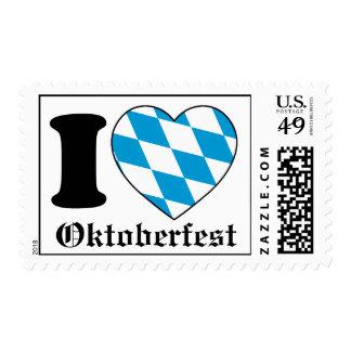 Amo Oktoberfest - sello de Baviera