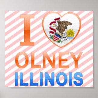 Amo Olney, IL Póster