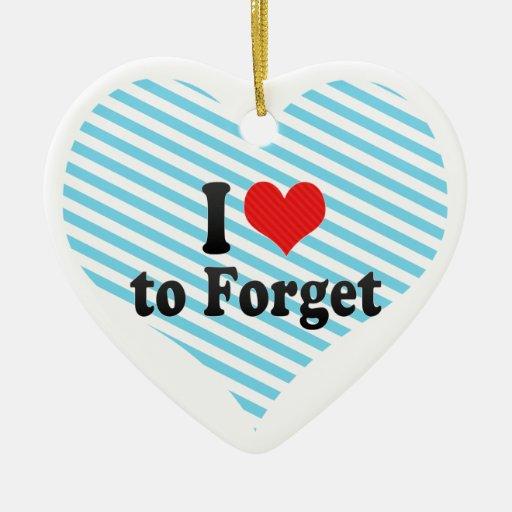 Amo olvidar adorno de cerámica en forma de corazón