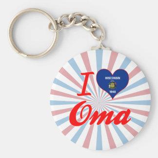 Amo Oma, Wisconsin Llaveros Personalizados
