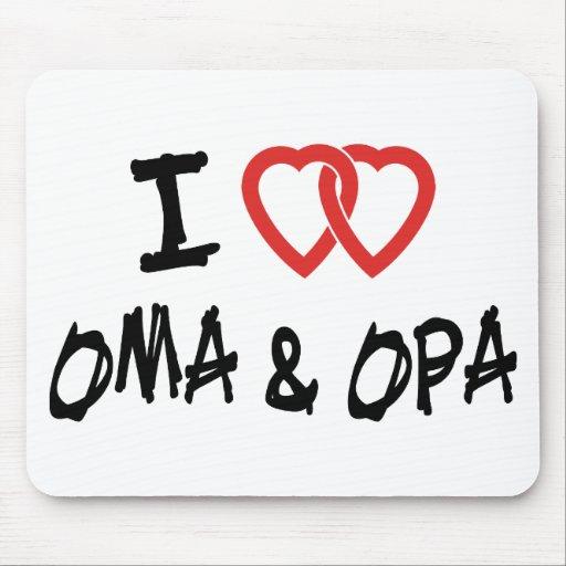 Amo Oma y Opa Alfombrillas De Raton
