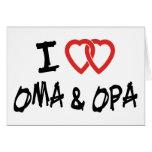Amo Oma y Opa Tarjeta De Felicitación