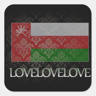 Amo Omán fresco Pegatina Cuadrada