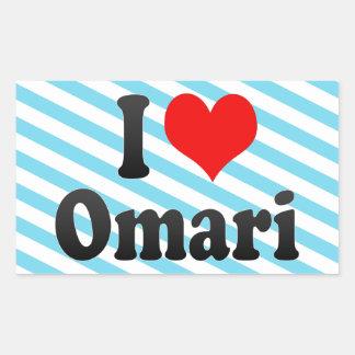 Amo Omari Rectangular Pegatina