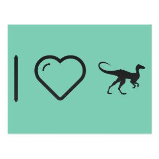 Amo omnívoros del dinosaurio tarjeta postal