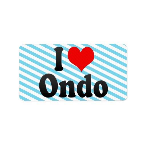 Amo Ondo, Nigeria Etiqueta De Dirección