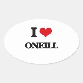 Amo Oneill Pegatina Ovalada