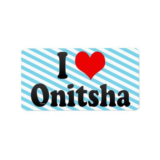 Amo Onitsha, Nigeria Etiquetas De Dirección