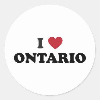 Amo Ontario Pegatina Redonda