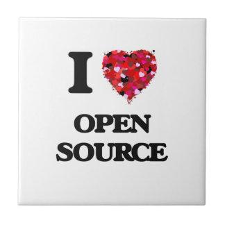 Amo Open Source Azulejo Cuadrado Pequeño