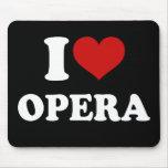Amo ópera alfombrilla de ratón