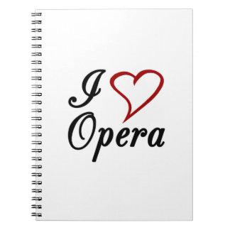 Amo ópera libreta espiral
