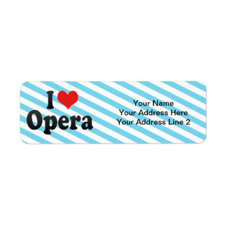 Amo ópera etiqueta de remite