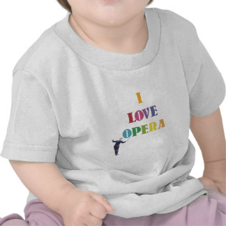 Amo ópera camisetas