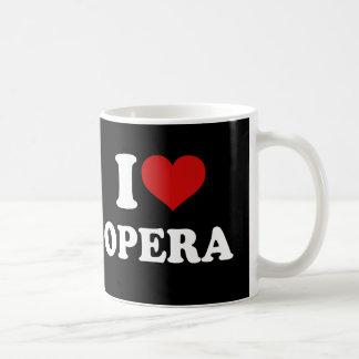 Amo ópera taza básica blanca