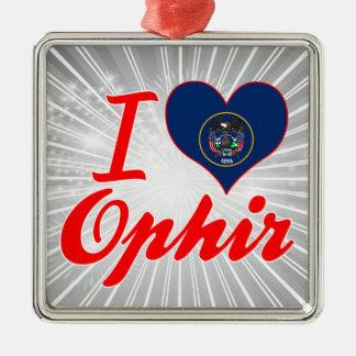 Amo Ophir, Utah Adorno Navideño Cuadrado De Metal