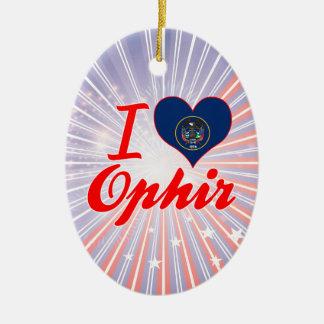 Amo Ophir, Utah Adorno Navideño Ovalado De Cerámica