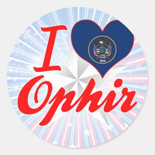 Amo Ophir, Utah Pegatina Redonda