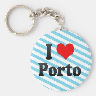 Amo Oporto, Portugal. Eu Amo Oporto, Portugal Llavero Redondo Tipo Pin