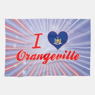 Amo Orangeville, Nueva York Toalla De Cocina