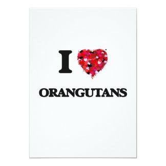 """Amo orangutanes invitación 5"""" x 7"""""""