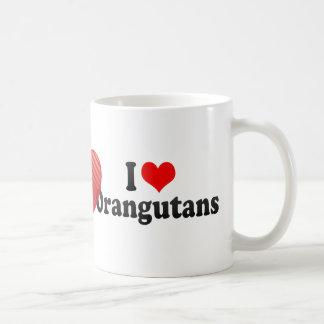 Amo orangutanes tazas