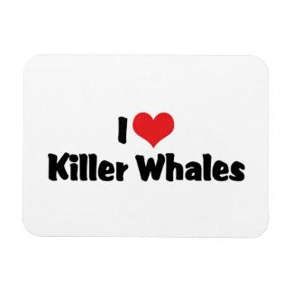 Amo orcas del corazón iman