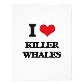 Amo orcas flyer personalizado