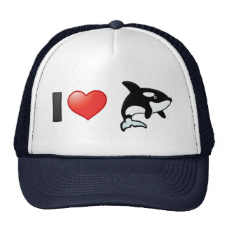 Amo orcas gorras de camionero