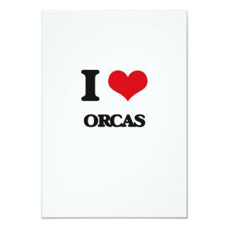 Amo orcas invitación 8,9 x 12,7 cm