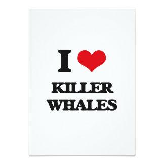 Amo orcas invitación 12,7 x 17,8 cm