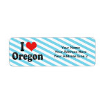 Amo Oregon Etiqueta De Remite