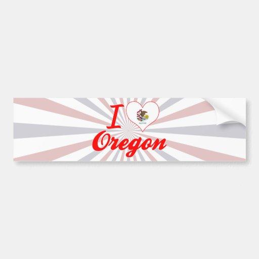Amo Oregon, Illinois Etiqueta De Parachoque