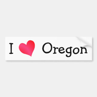 Amo Oregon Pegatina De Parachoque