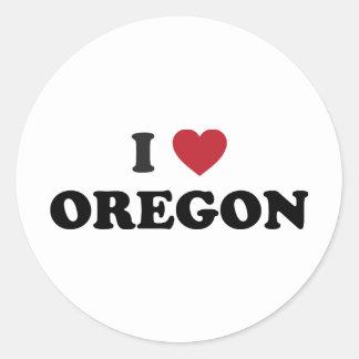 Amo Oregon Pegatinas Redondas