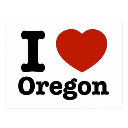Amo Oregon Tarjeta Postal