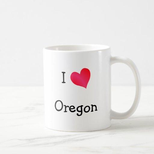 Amo Oregon Taza Básica Blanca