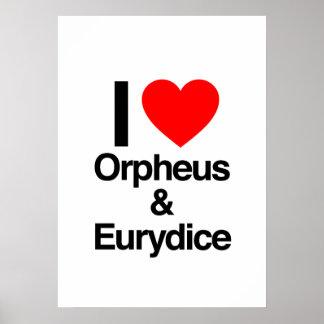 amo Orfeo y Eurydice Impresiones