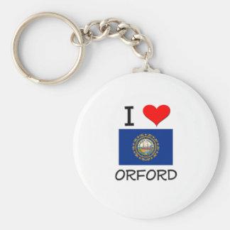 Amo Orford New Hampshire Llaveros Personalizados