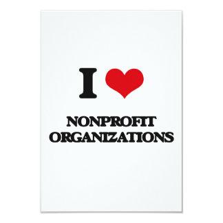 Amo organizaciones sin ánimo de lucro invitación 8,9 x 12,7 cm