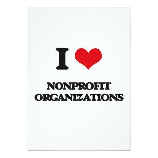 Amo organizaciones sin ánimo de lucro invitación 12,7 x 17,8 cm